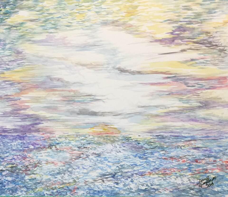 AN IMPRESSIONIST'S SEASCAPE- 2018- jigsaw puzzle- Doug Gazlay- DougPuzzles.com