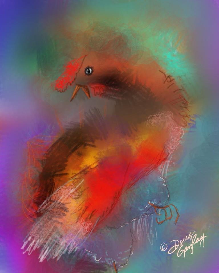 BIRD OF ABSTRACTION 2017- jigsaw puzzle- Doug Gazlay- DougPuzzles.com