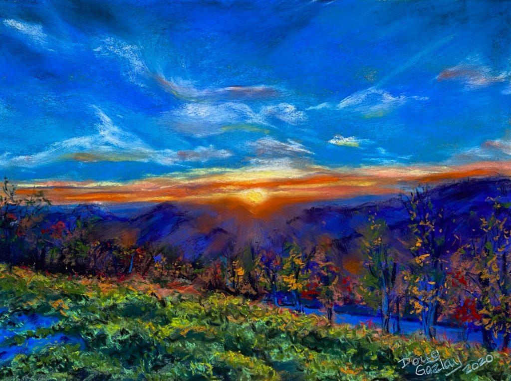 BLUE RIDGE MOUNTAIN SUNSET 2020- jigsaw- Doug Gazlay- DougPuzzles.com