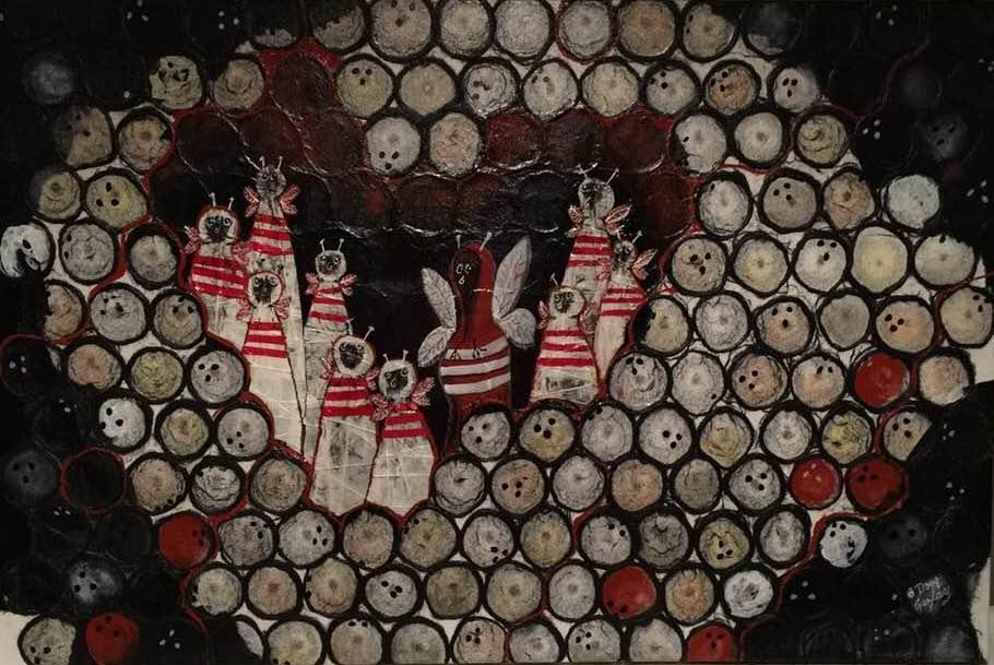 BOWLING BEES 2017- jigsaw puzzle- Doug Gazlay- DougPuzzles.com
