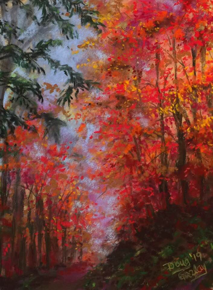 COLORFUL FOREST PATH 2019- jigsaw puzzle- Doug Gazlay- DougPuzzles.com