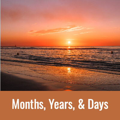 MONTHS, YEARS & DAYS Word Search - Doug Gazlay- DougPuzzles.com