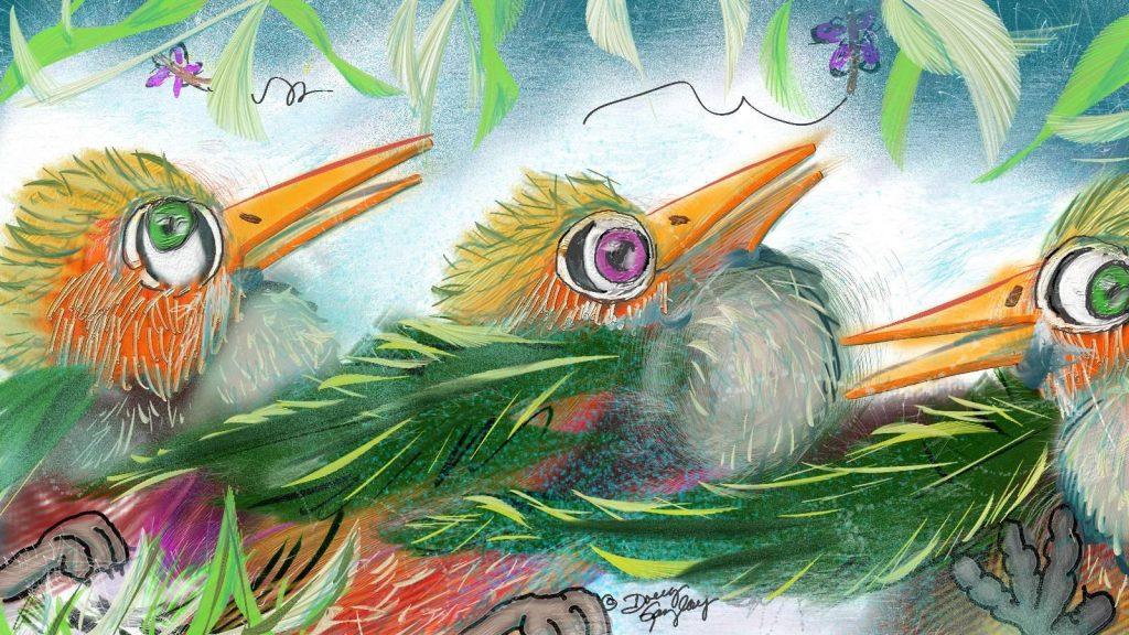 EYES ON THE BIRDIES 2017- jigsaw puzzle- Doug Gazlay- DougPuzzles.com