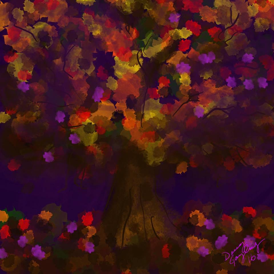 FALL TREE 2016- jigsaw puzzle- Doug Gazlay- DougPuzzles.com