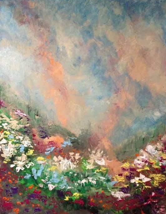 FLOWERED LANDSCAPE 2015- jigsaw puzzle- Doug Gazlay- DougPuzzles.com