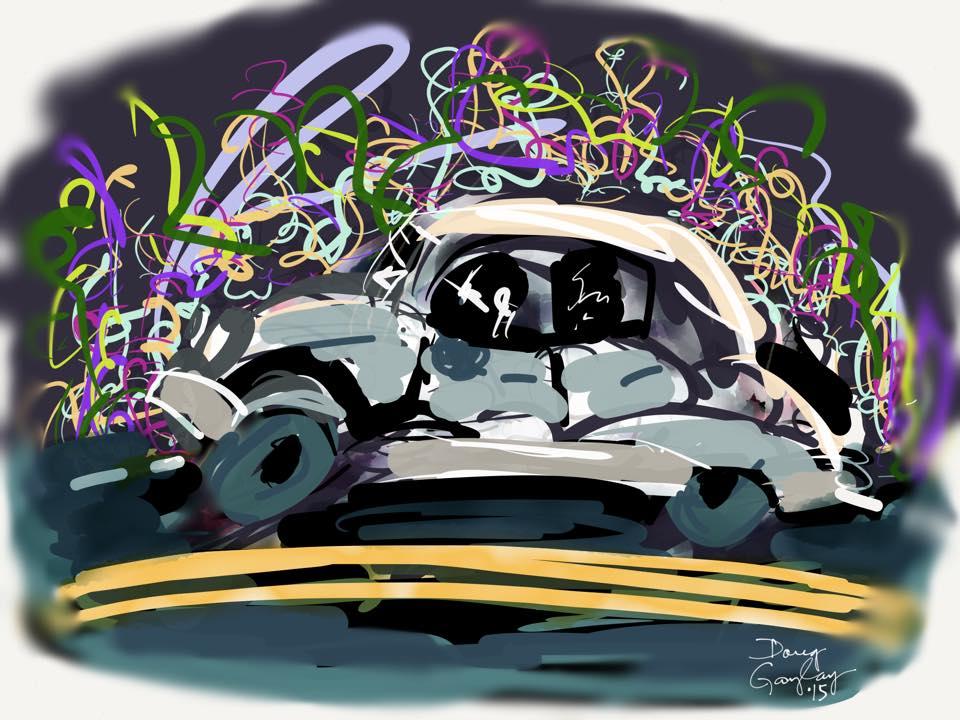 GRAFITTI ROAD 2015- jigsaw puzzle- Doug Gazlay- DougPuzzles.com