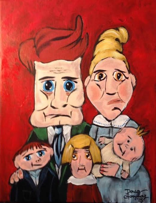 HAPPY FAMILY 2015- jigsaw puzzle- Doug Gazlay- DougPuzzles.com
