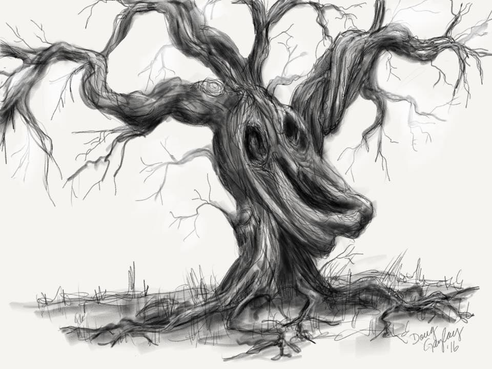 HAUNTED TREE 2016- jigsaw puzzle-Doug Gazlay- DougPuzzles.com