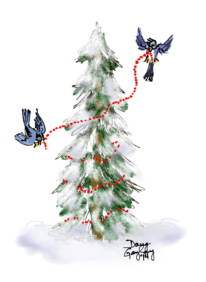 DECORATE THE TREE 2014- jigsaw puzzle- Doug Gazlay- DougPuzzles.com