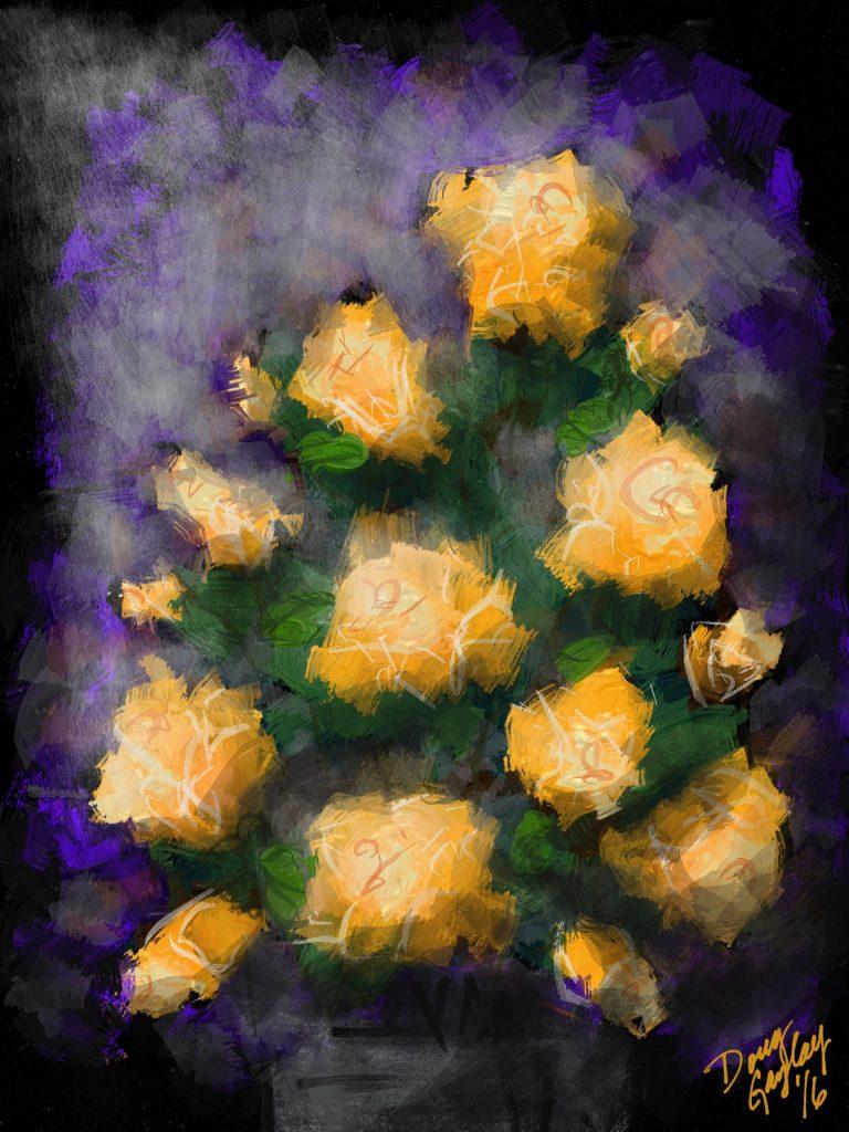 YELLOW FLOWERS puzzle- Doug Gazlay- DougPuzzles.com