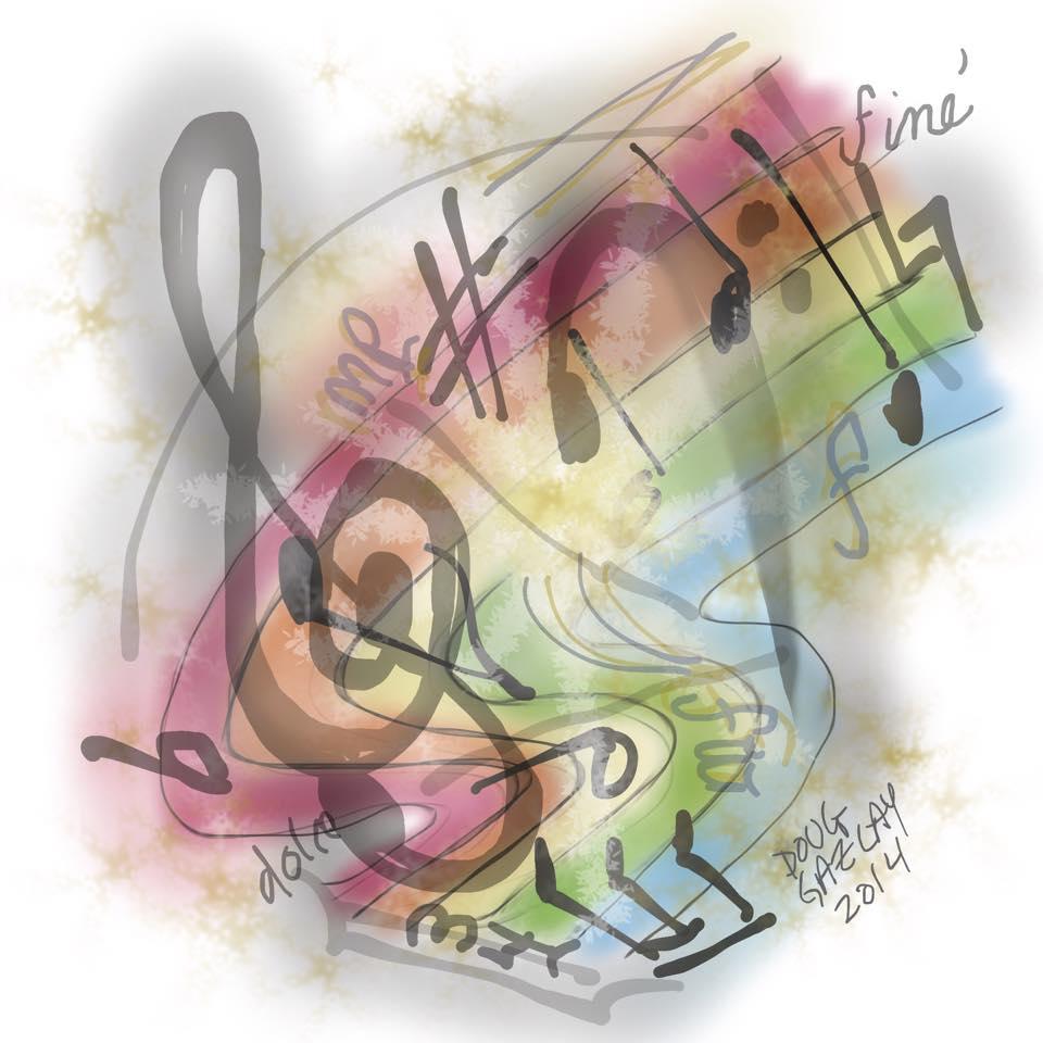 MUSIC BURST 2014- jigsaw puzzle- Doug Gazlay- DougPuzzles.com