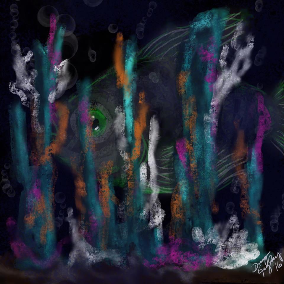 NEON REEF 2016- jigsaw puzzle- Doug Gazlay- DougPuzzles.com