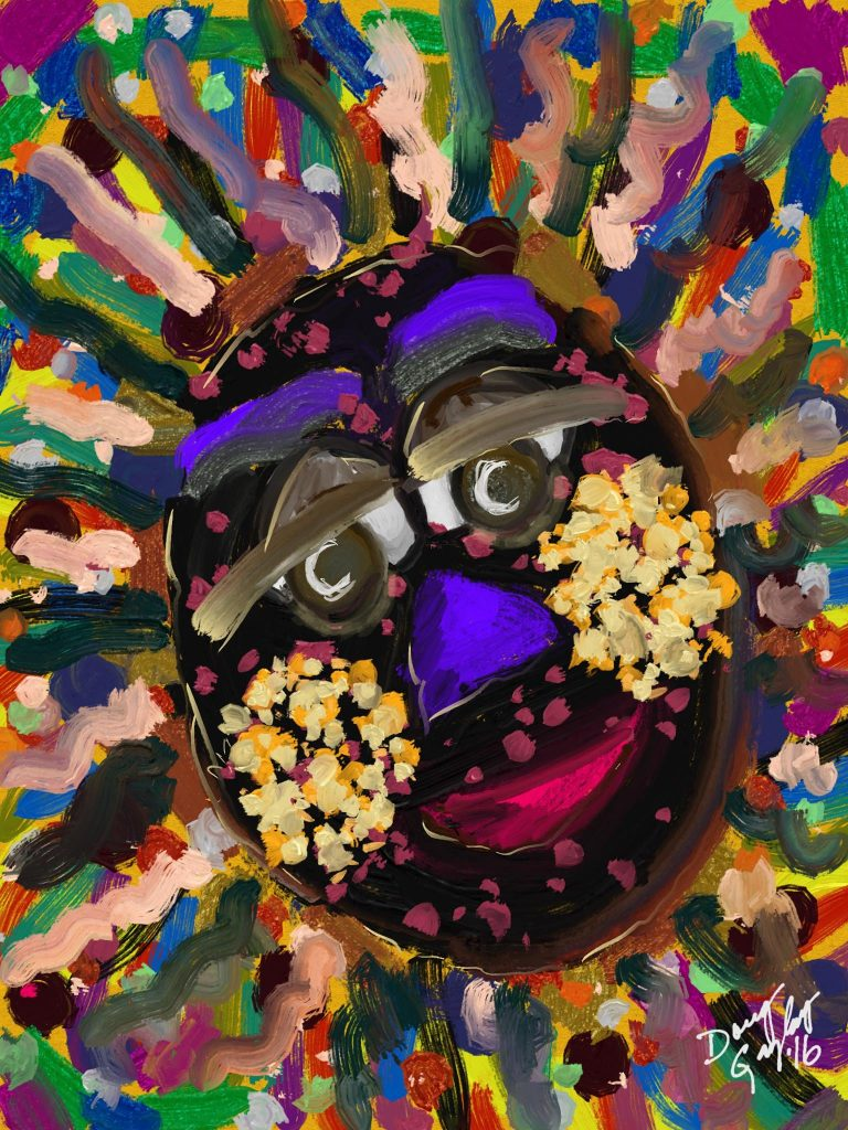 POPCORN CHEEKS 2016- jigsaw puzzle- Doug Gazlay- DougPuzzles.com