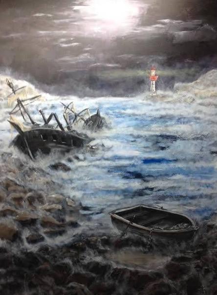 SHIPWRECK 2015- jigsaw puzzle- Doug Gazlay- DougPuzzles.com