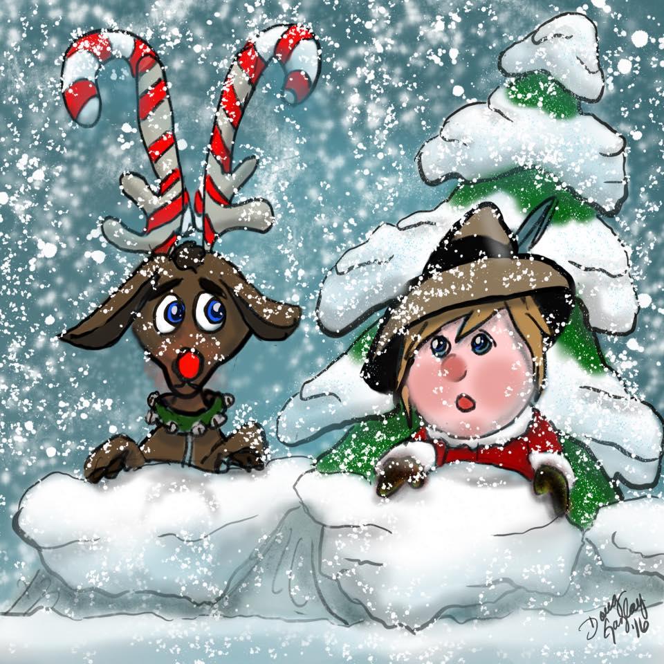 SNOW FRIENDS 2016- jigsaw puzzle- Doug Gazlay- DougPuzzles.com