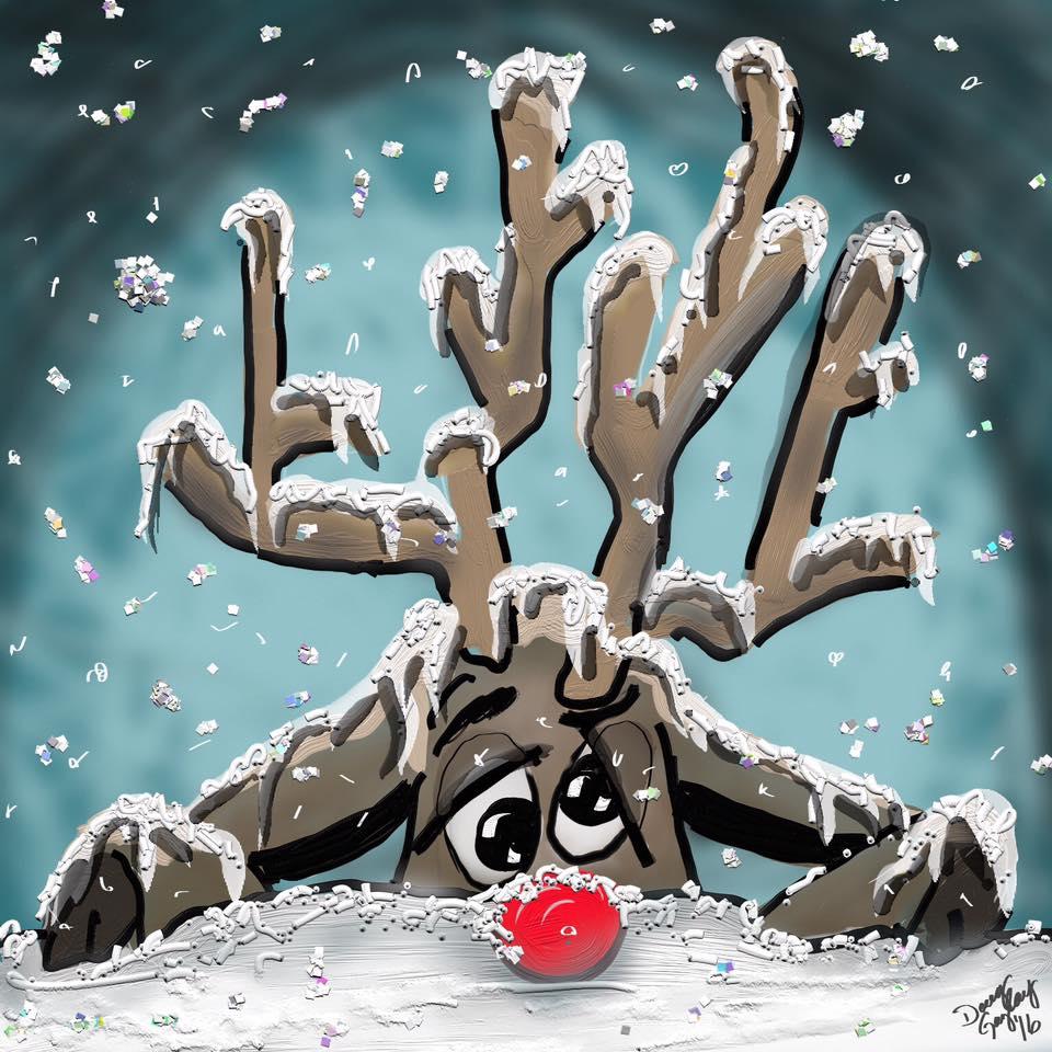 SNOWED UNDER RUDOLPH 2016- jigsaw puzzle-Doug Gazlay- DougPuzzles.com