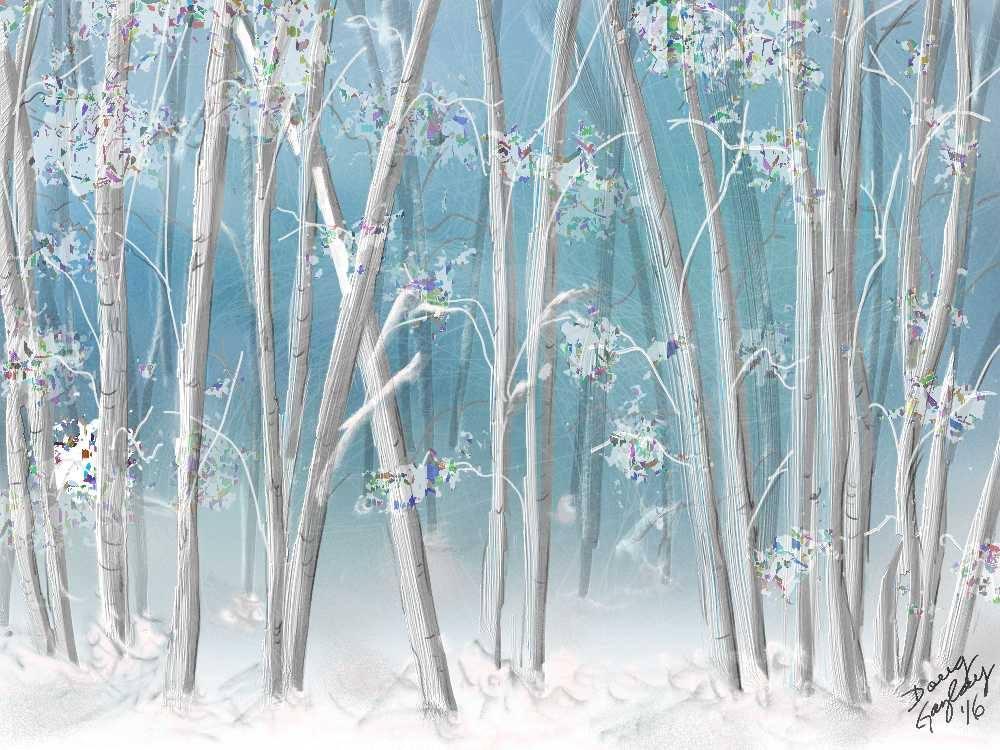 SNOWY TREES 2016- jigsaw puzzle- Doug Gazlay- DougPuzzles.com
