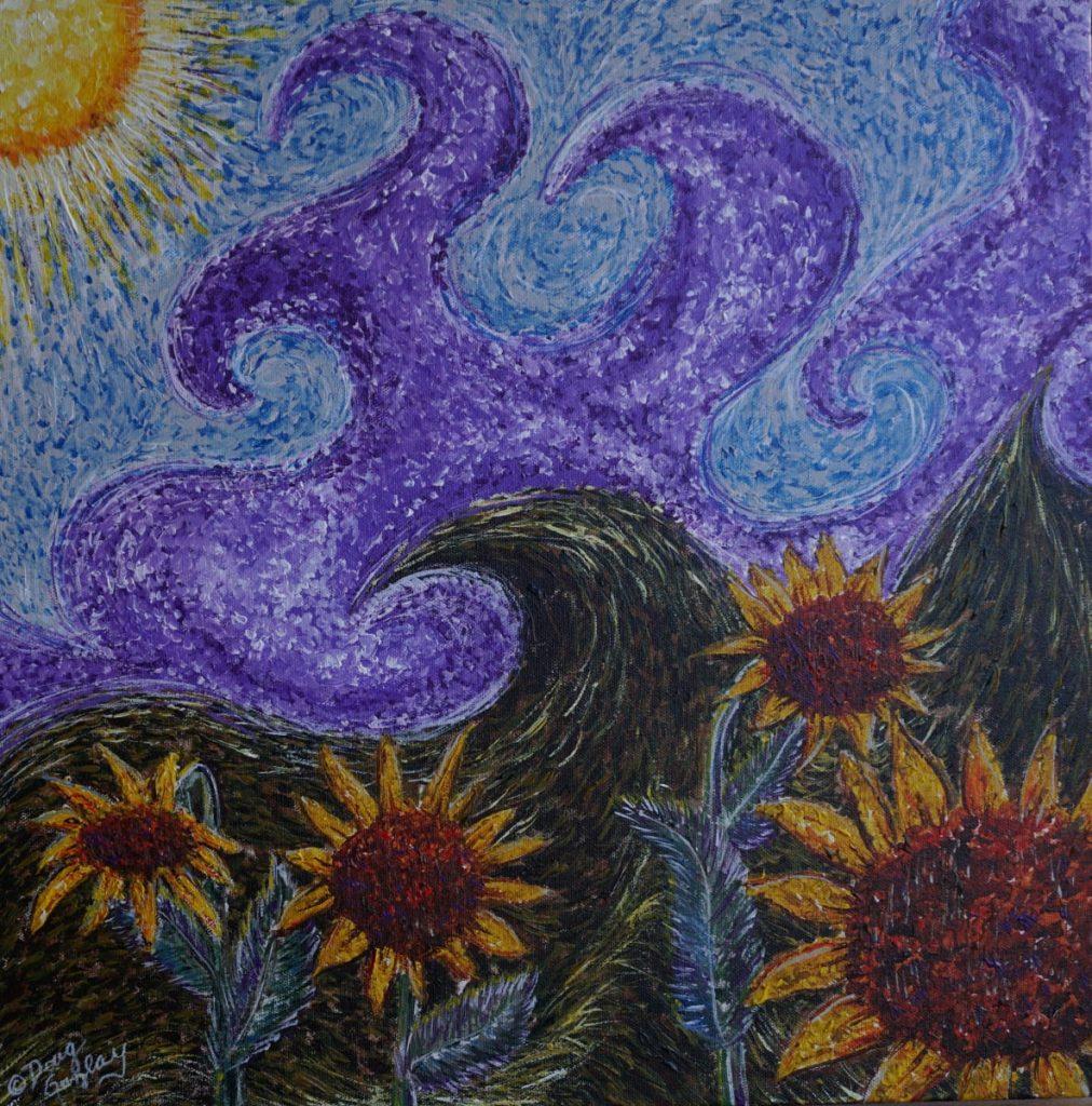 SUNNY FLOWERS 2018- jigsaw puzzle- Doug Gazlay - DougPuzzles.com
