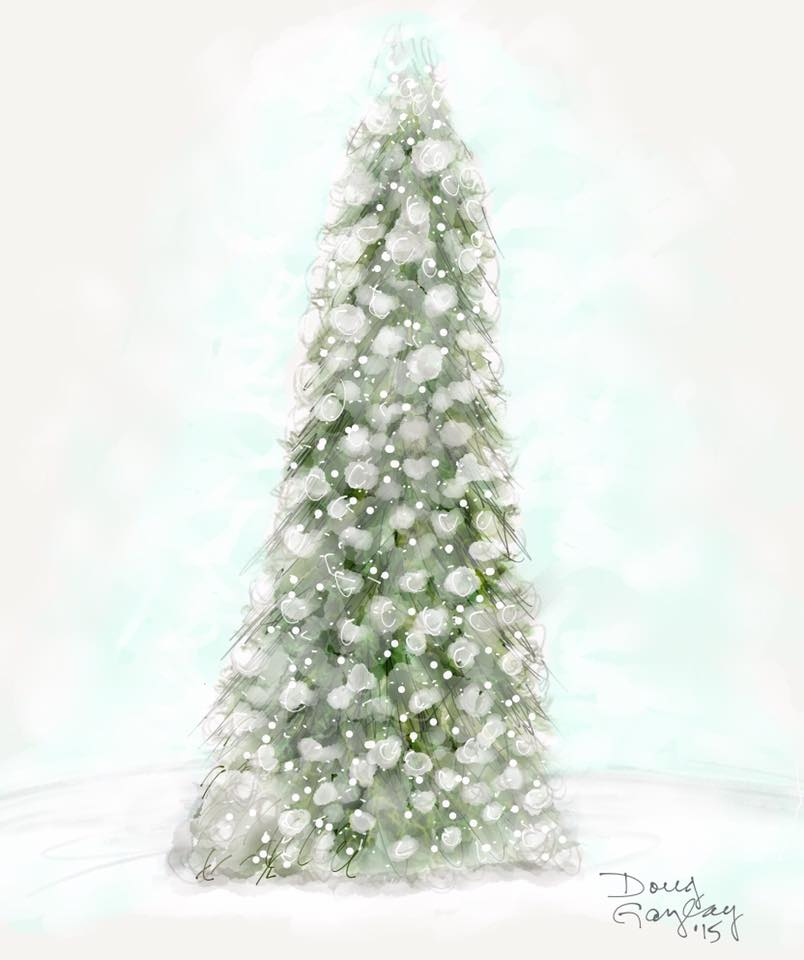 TREE IN WHITE 2015- jigsaw puzzle- Doug Gazlay- DougPuzzles.com