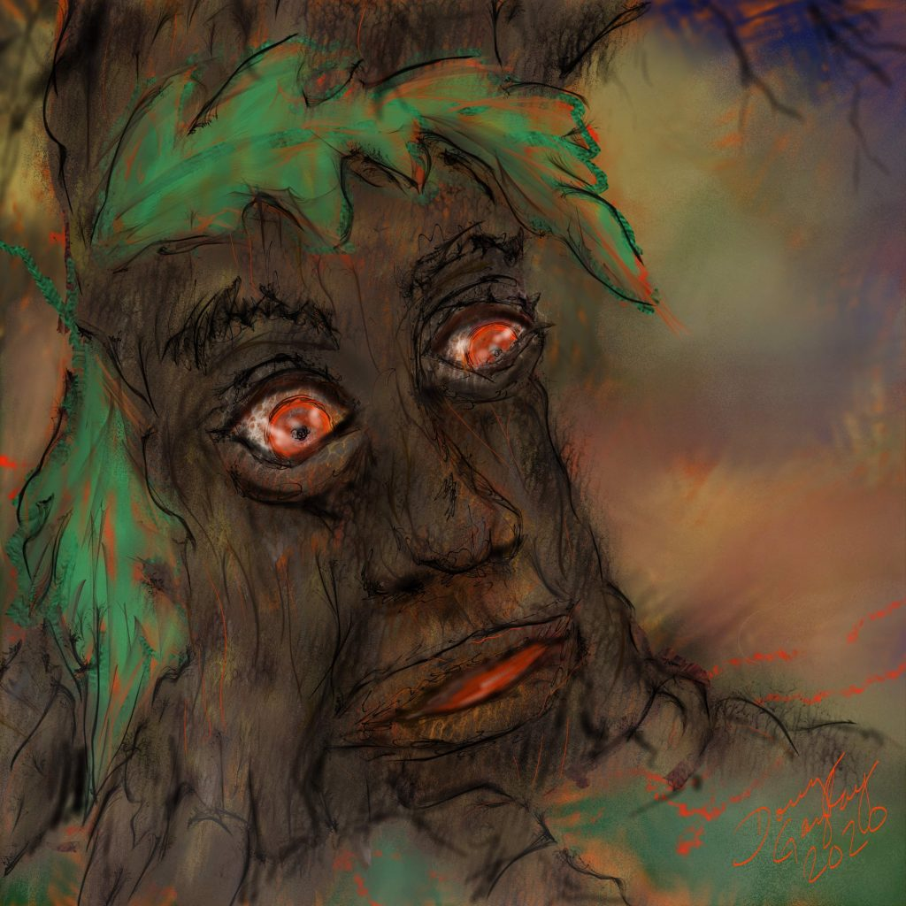 TREE OF PURE EVIL- jigsaw puzzle- 2020- Doug Gazlay- DougPuzzles.com