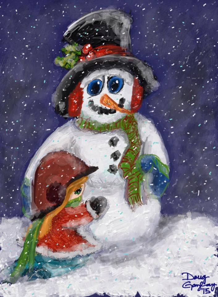 WINTER BEST FRIENDS 2015- jigsaw puzzle- Doug Gazlay- DougPuzzles.com