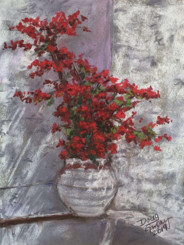 I SPY RED IN MYKONOS, GREECE 2019- jigsaw puzzle- Doug Gazlay- DougPuzzles.com