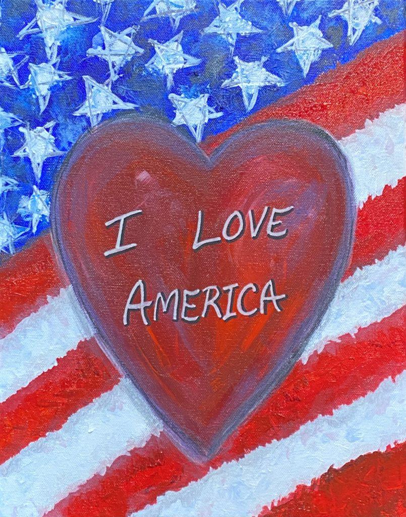 I LOVE AMERICA 2020- jigsaw puzzle- Doug Gazlay -DougPuzzles. com
