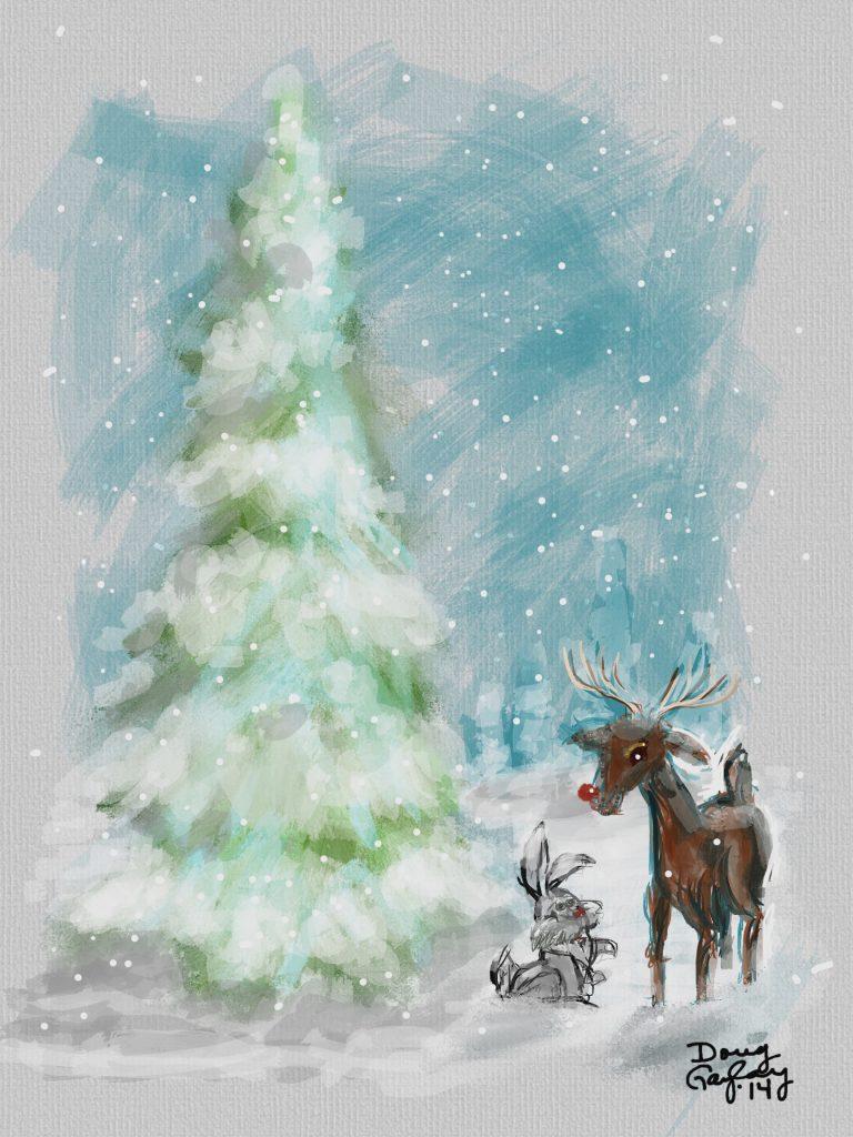 CHRISTMAS FRIENDS 2014- jigsaw puzzle- Doug Gazlay- DougPuzzles.com