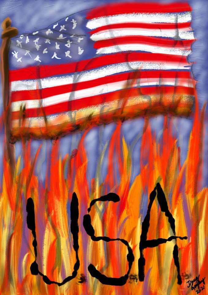 GOD HELP AMERICA 2021- jigsaw puzzle- Doug Gazlay- DougPuzzles.com