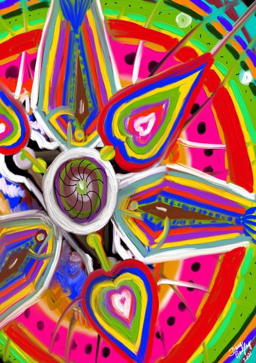 WATERMELON DOODLE 2021- jigsaw puzzle- Doug Gazlay- DougPuzzles.com